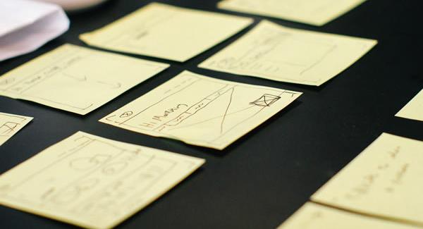sticky notes on desk